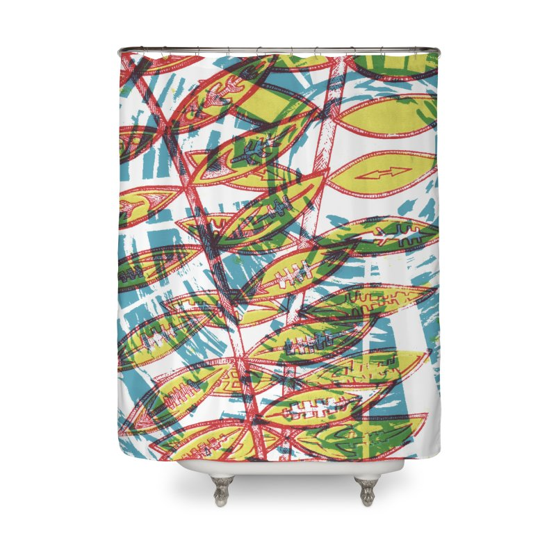 Transcend Home Shower Curtain by jon cooney's print shop