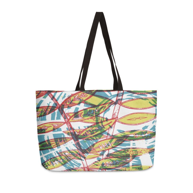 Transcend Accessories Weekender Bag Bag by jon cooney's print shop