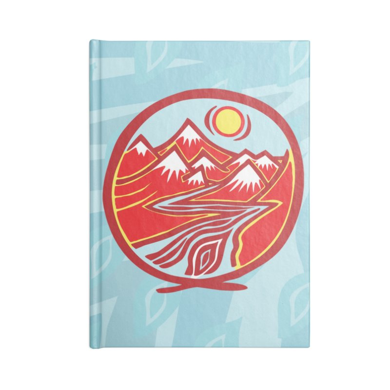 Natural Calming Multi Color Accessories Lined Journal Notebook by jon cooney's print shop