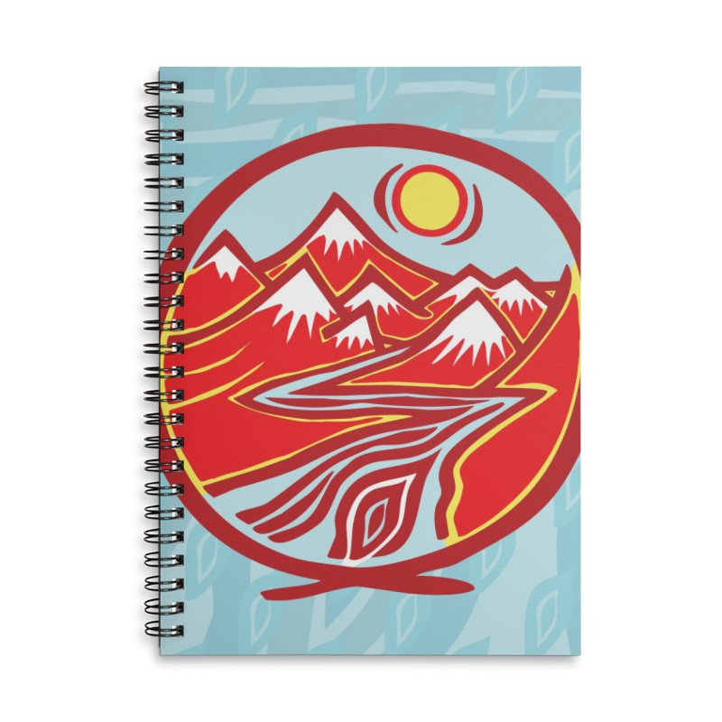 Natural Calming Multi Color Accessories Lined Spiral Notebook by jon cooney's print shop