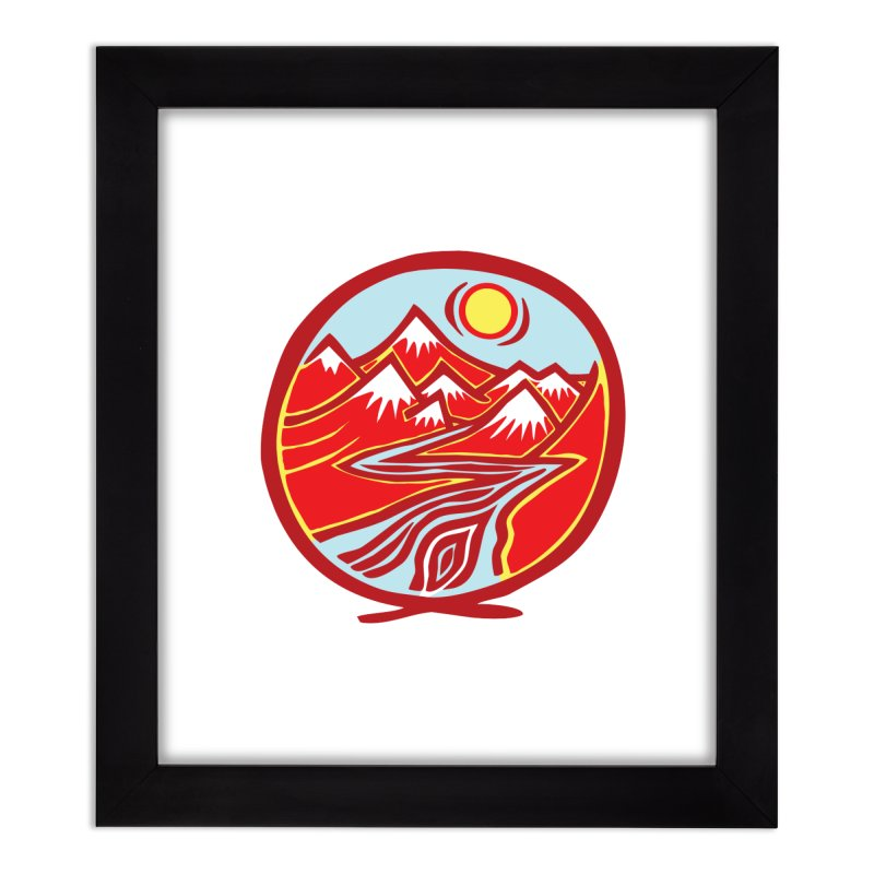 Natural Calming Multi Color Home Framed Fine Art Print by jon cooney's print shop