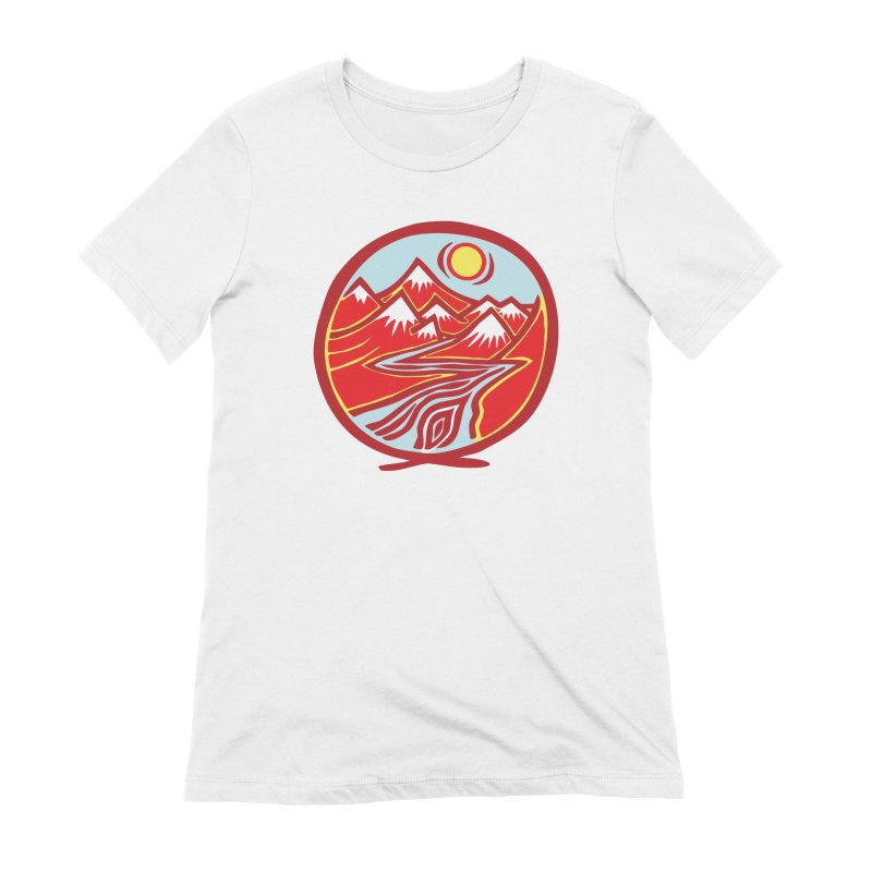Natural Calming Multi Color Women's Extra Soft T-Shirt by jon cooney's print shop