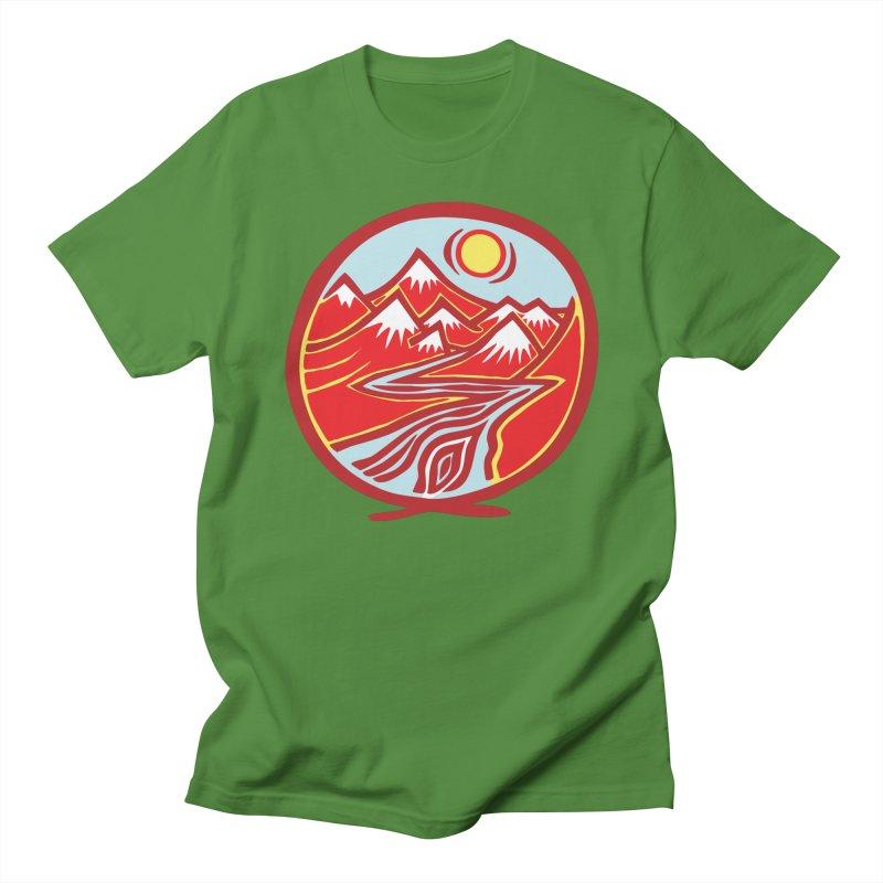 Natural Calming Multi Color Men's T-Shirt by jon cooney's print shop