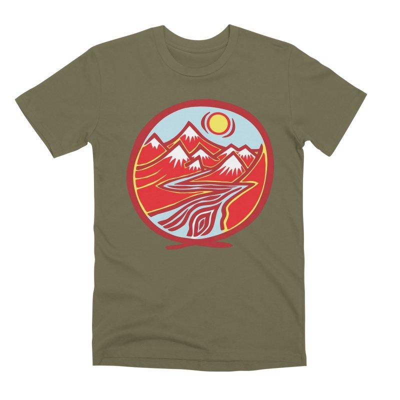 Natural Calming Multi Color Men's Premium T-Shirt by jon cooney's print shop