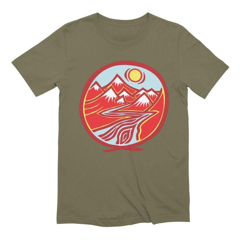 Natural Calming Multi Color Men's Extra Soft T-Shirt by jon cooney's print shop