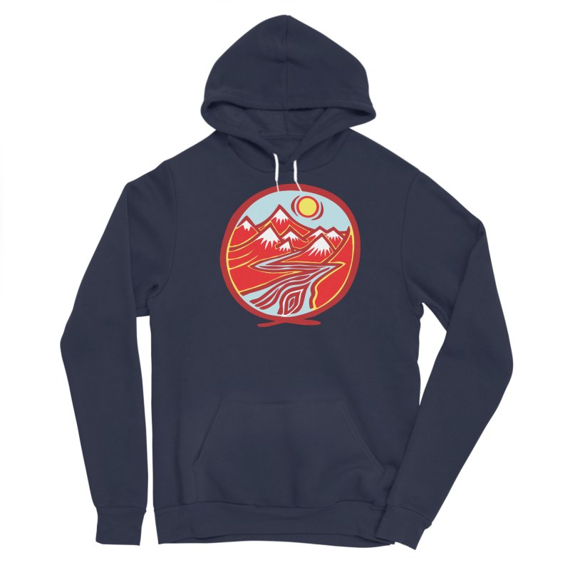 Natural Calming Multi Color Men's Sponge Fleece Pullover Hoody by jon cooney's print shop