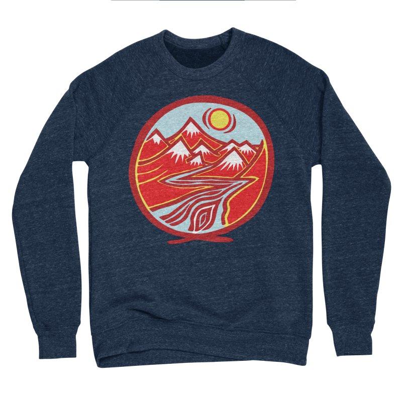 Natural Calming Multi Color Men's Sponge Fleece Sweatshirt by jon cooney's print shop