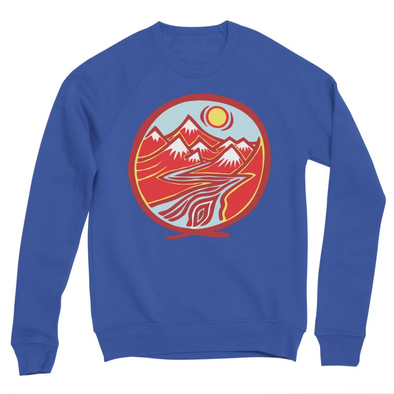 Natural Calming Multi Color Men's Sweatshirt by jon cooney's print shop