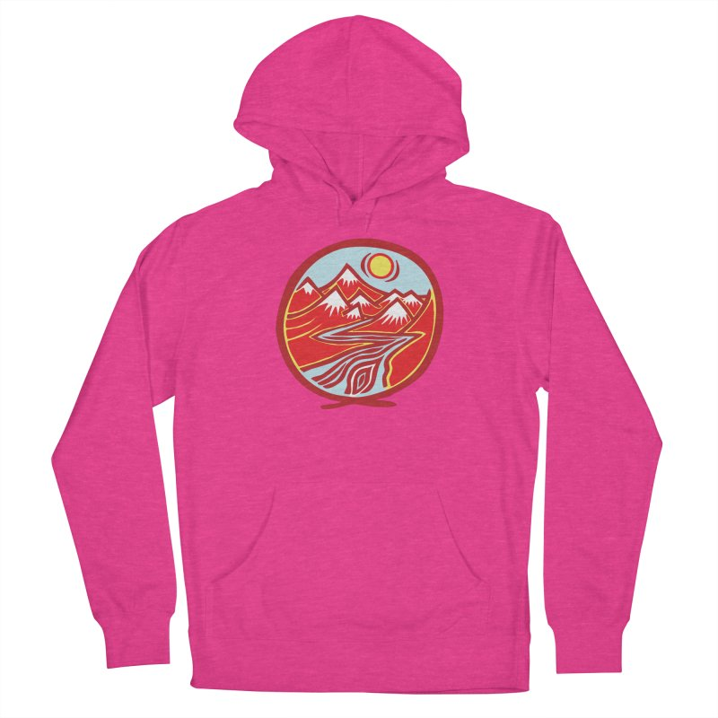 Natural Calming Multi Color Men's Pullover Hoody by jon cooney's print shop