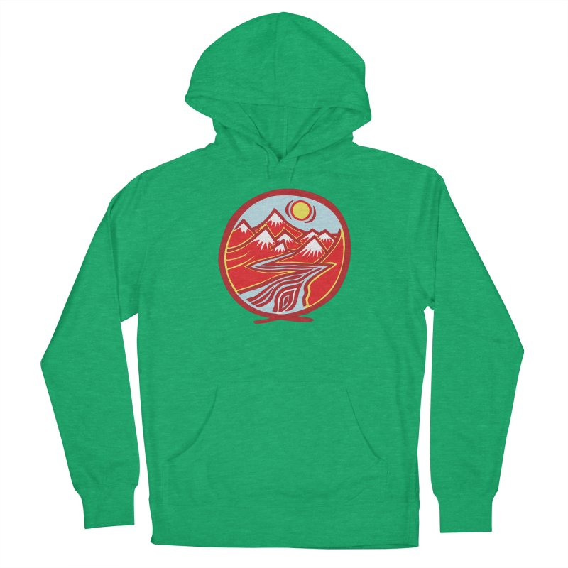Natural Calming Multi Color Women's Pullover Hoody by jon cooney's print shop