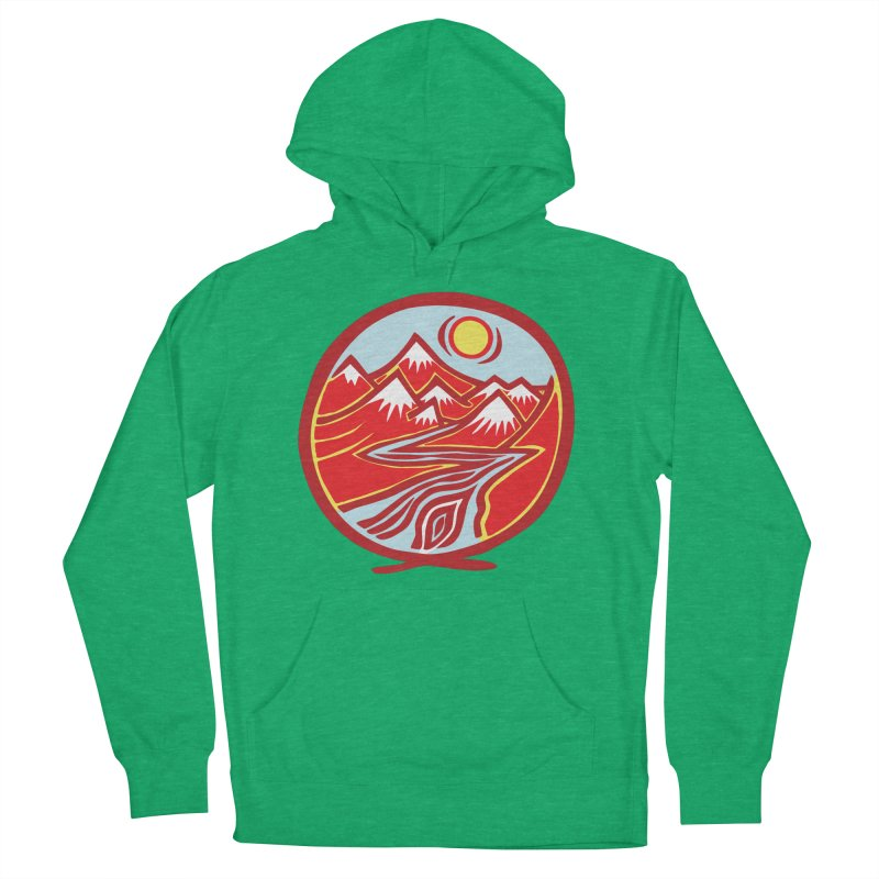 Natural Calming Multi Color Women's French Terry Pullover Hoody by jon cooney's print shop
