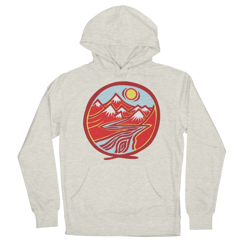 Natural Calming Multi Color Men's French Terry Pullover Hoody by jon cooney's print shop