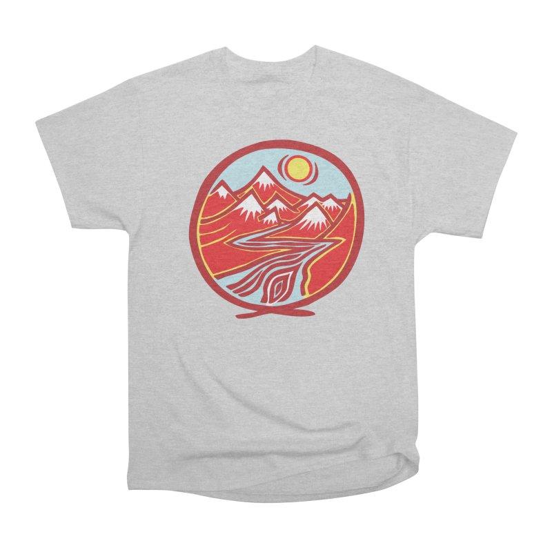 Natural Calming Multi Color Men's Heavyweight T-Shirt by jon cooney's print shop