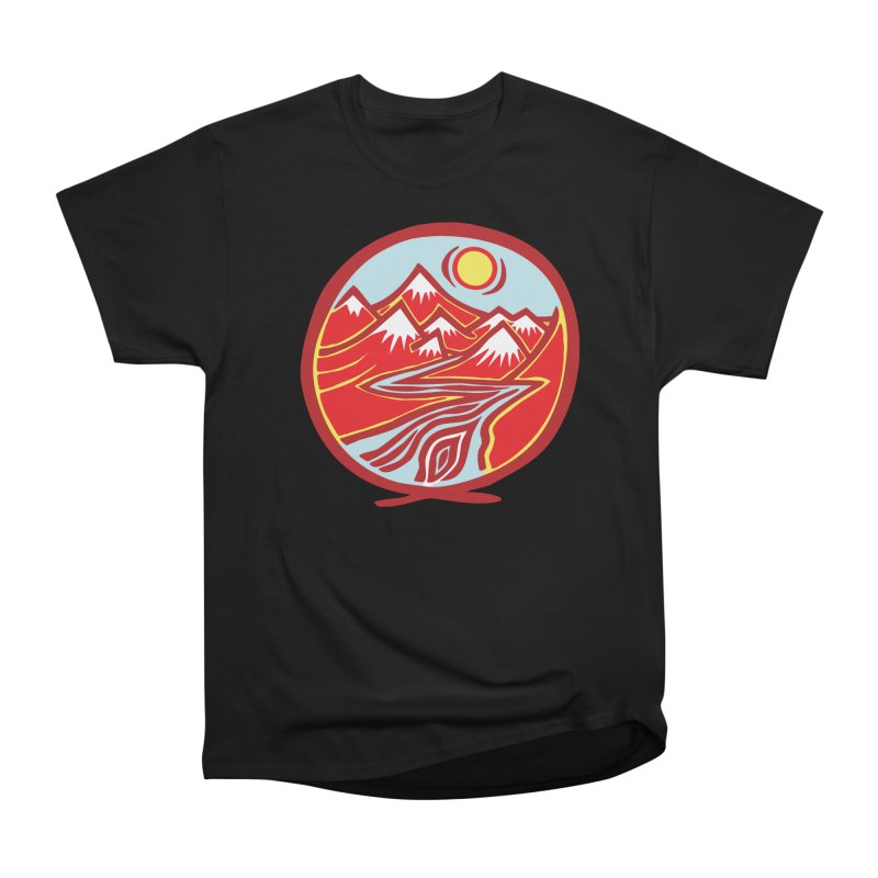 Natural Calming Multi Color Women's Heavyweight Unisex T-Shirt by jon cooney's print shop