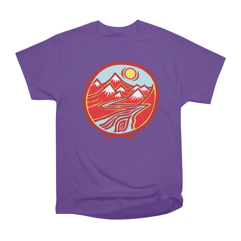 Natural Calming Multi Color Men's Heavyweight T-Shirt by jon cooney's print shop