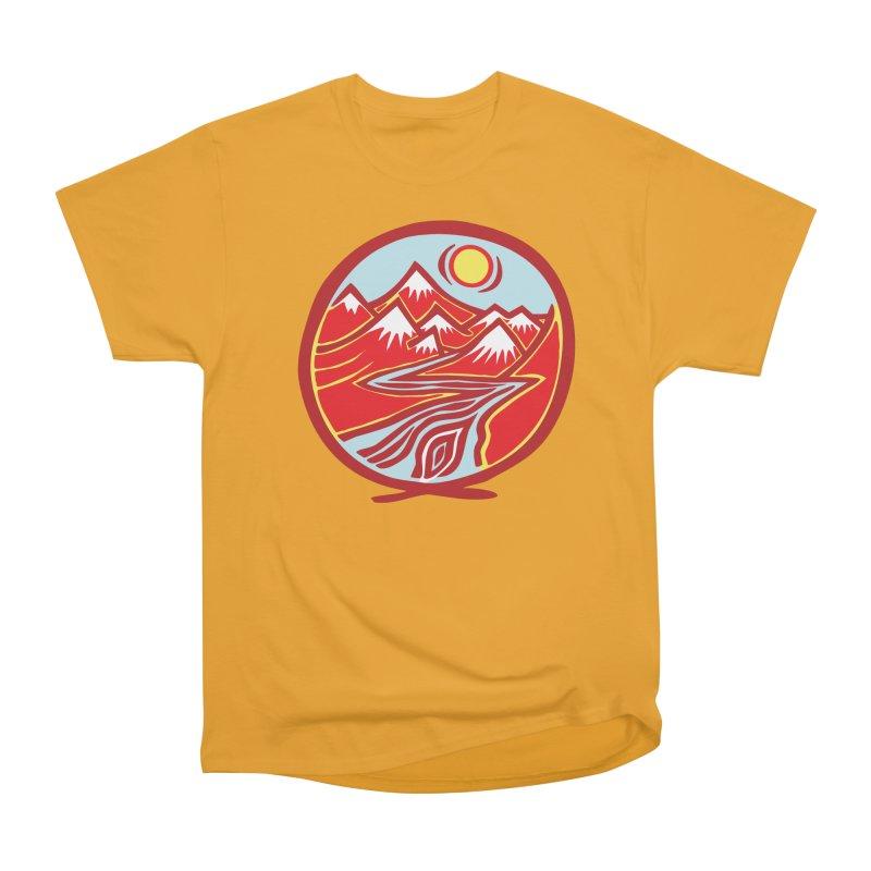 Natural Calming Multi Color Women's Heavyweight Unisex T-Shirt by jon cooney's print shop