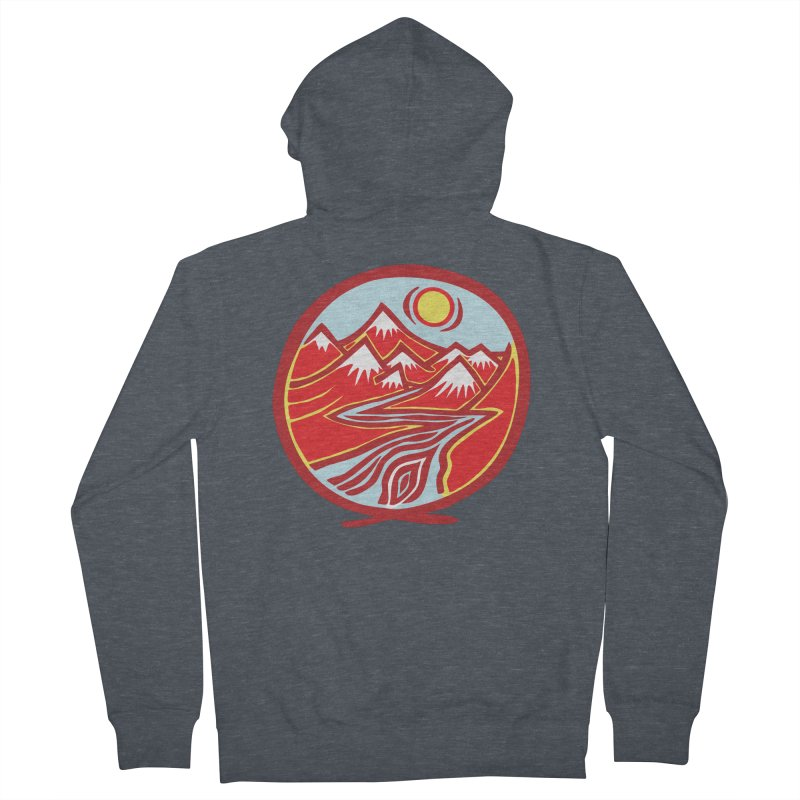 Natural Calming Multi Color Women's French Terry Zip-Up Hoody by jon cooney's print shop