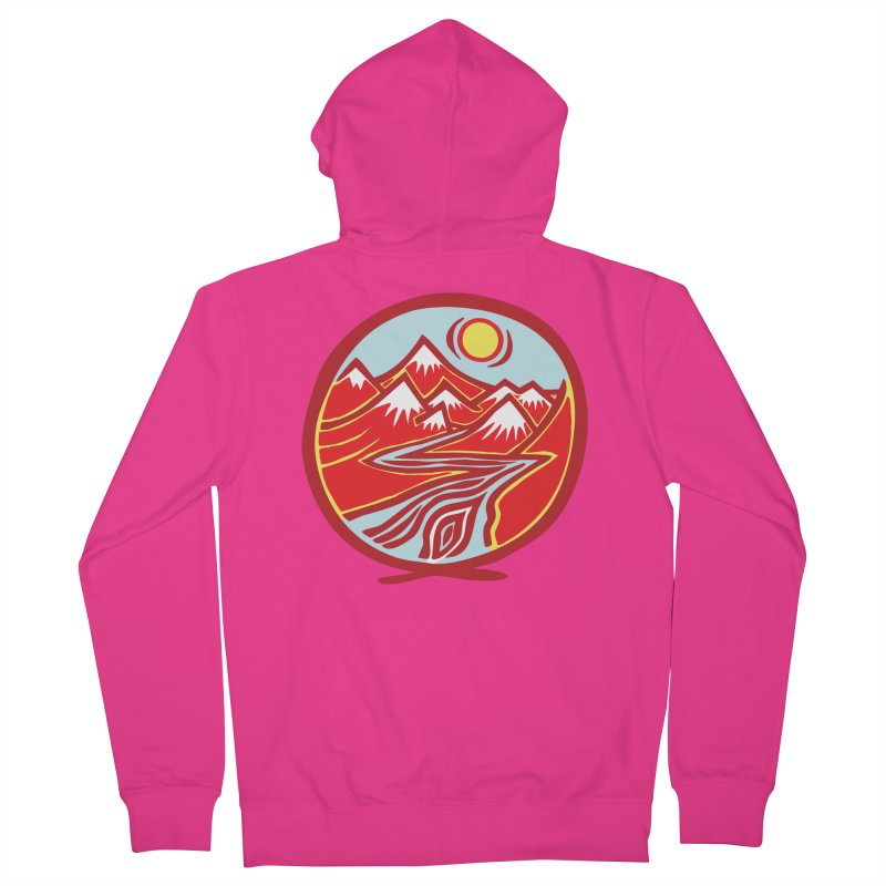 Natural Calming Multi Color Men's French Terry Zip-Up Hoody by jon cooney's print shop