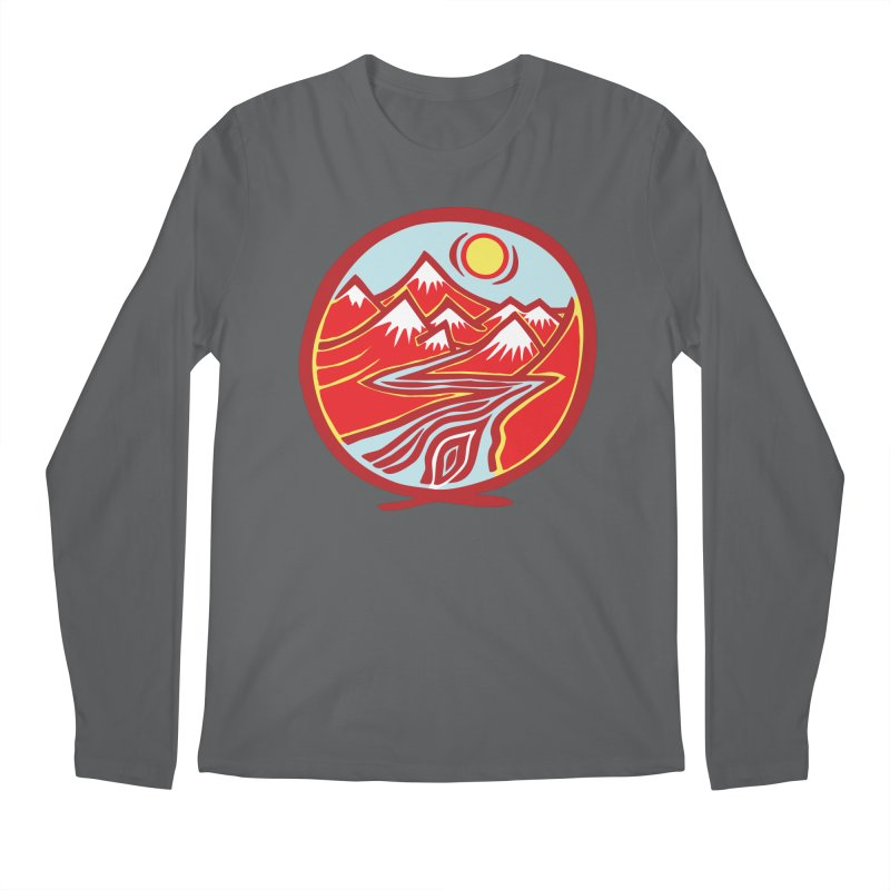 Natural Calming Multi Color Men's Regular Longsleeve T-Shirt by jon cooney's print shop