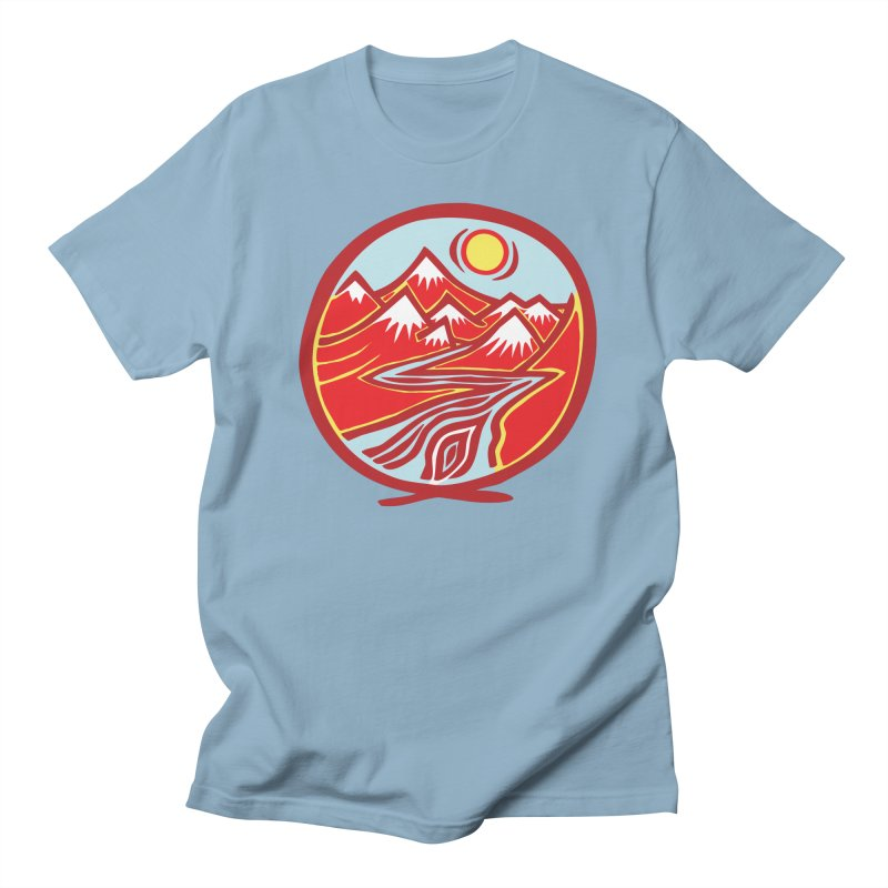 Natural Calming Multi Color Men's T-Shirt by jon cooney's print shop