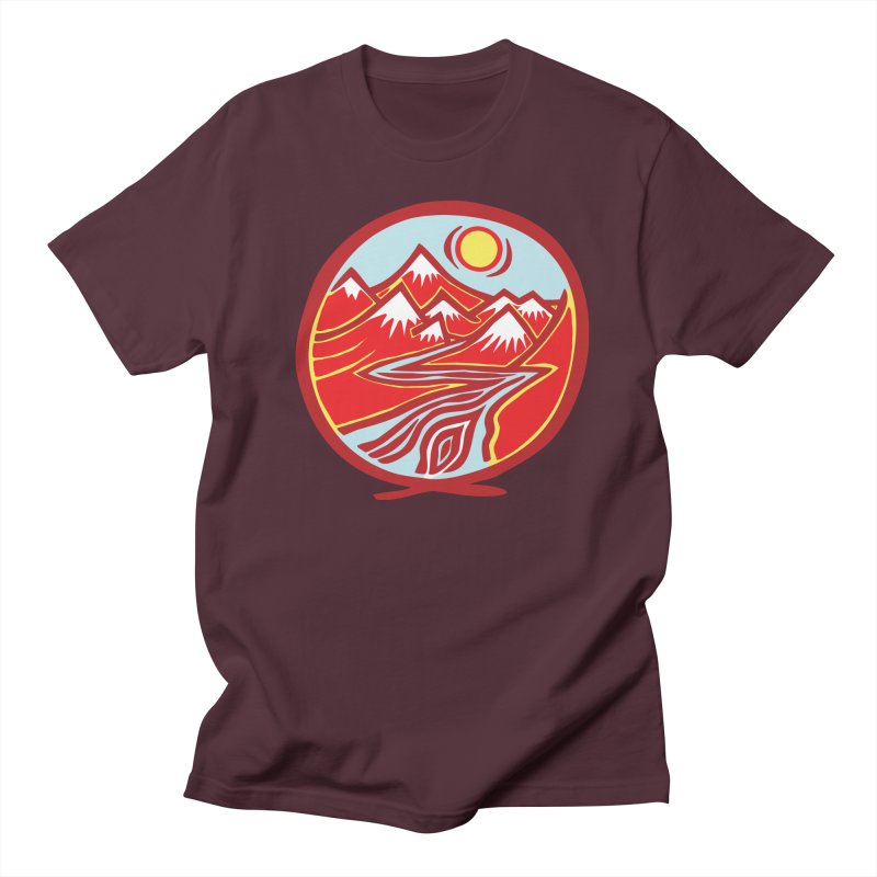 Natural Calming Multi Color Women's Regular Unisex T-Shirt by jon cooney's print shop