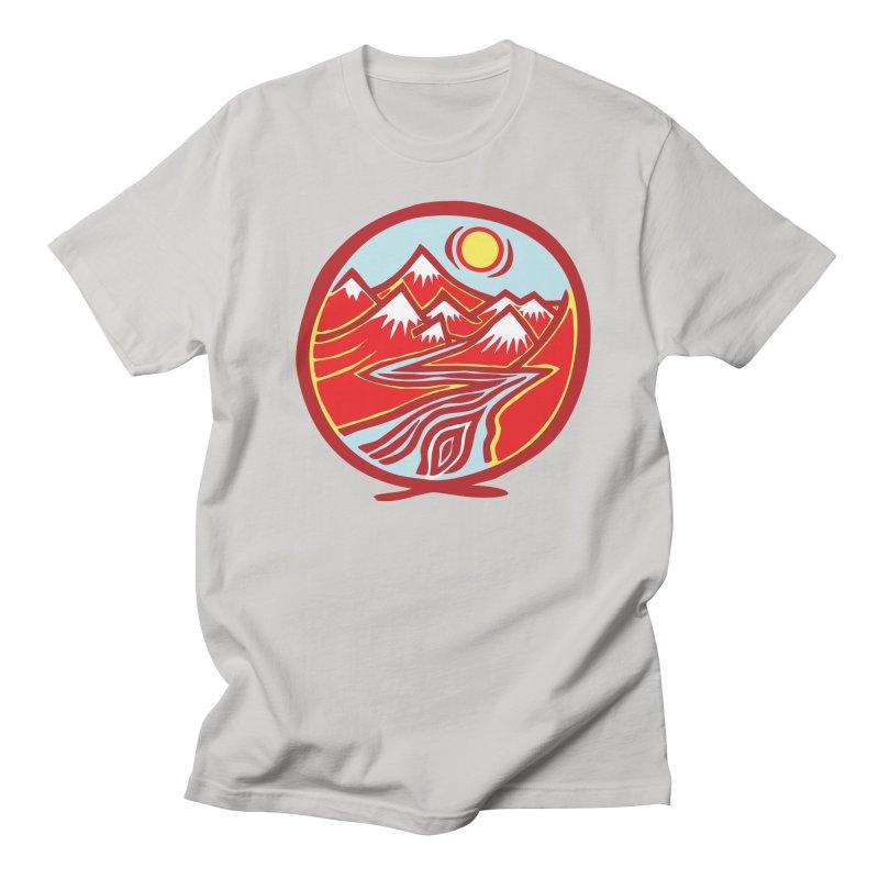 Natural Calming Multi Color Women's Regular Unisex T-Shirt by jon cooney's print shop