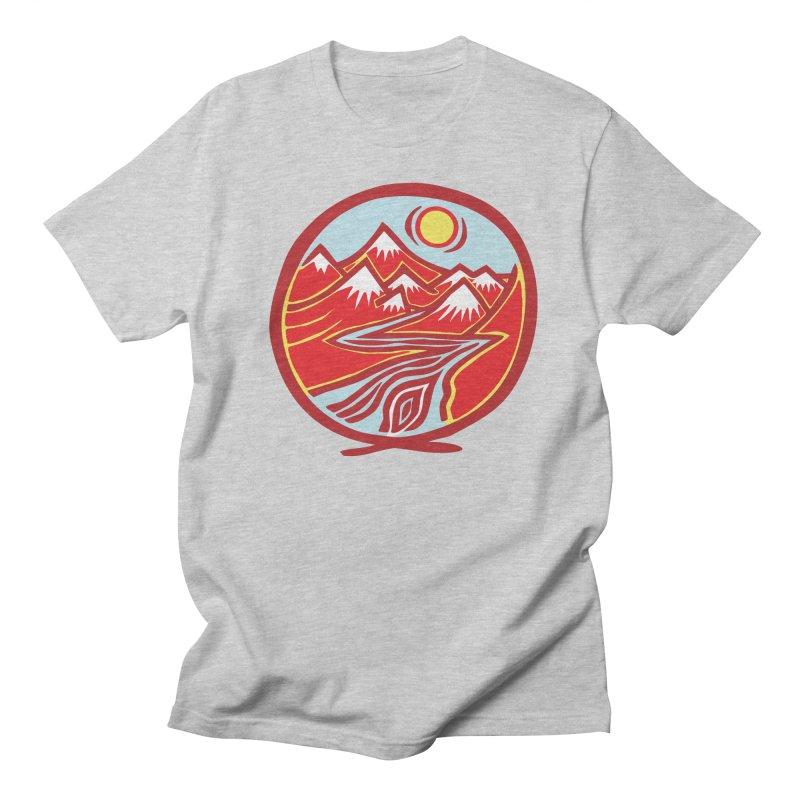 Natural Calming Multi Color Men's Regular T-Shirt by jon cooney's print shop