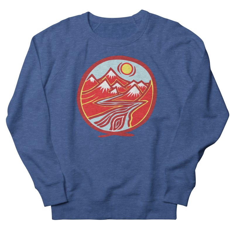 Natural Calming Multi Color Women's French Terry Sweatshirt by jon cooney's print shop