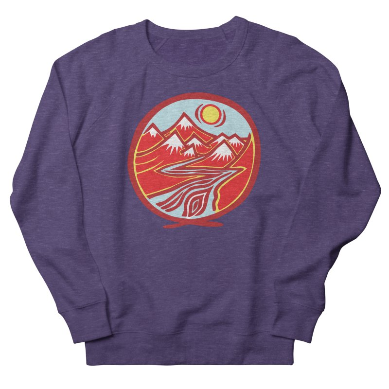 Natural Calming Multi Color Men's French Terry Sweatshirt by jon cooney's print shop
