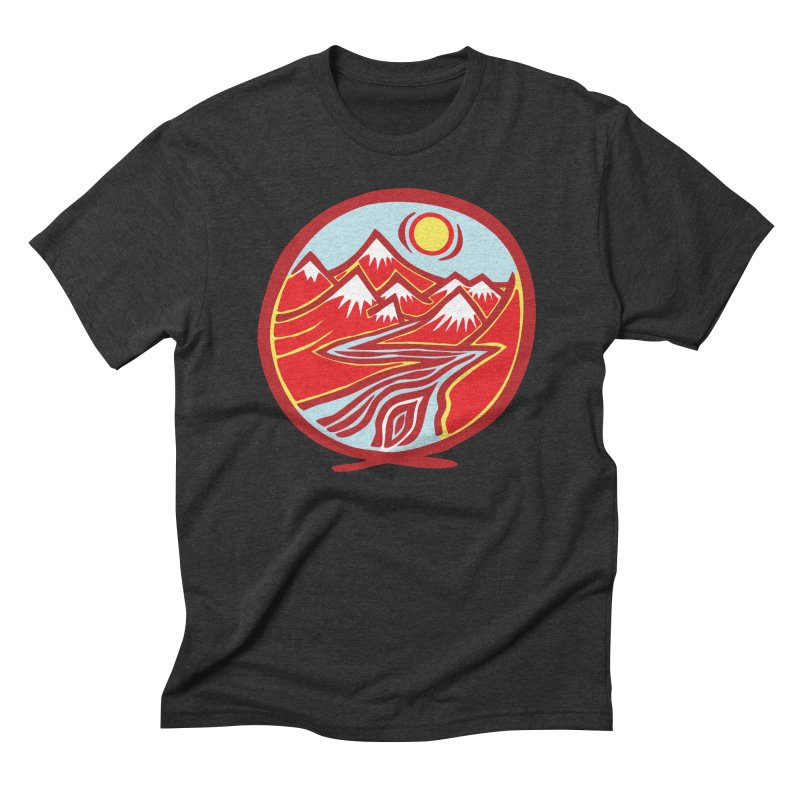 Natural Calming Multi Color Men's Triblend T-Shirt by jon cooney's print shop