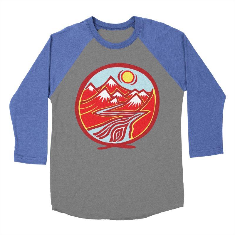 Natural Calming Multi Color Women's Baseball Triblend Longsleeve T-Shirt by jon cooney's print shop