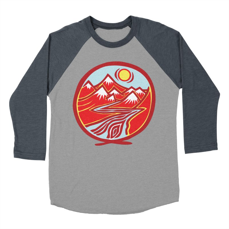 Natural Calming Multi Color Women's Baseball Triblend Longsleeve T-Shirt by jon cooney's print shop