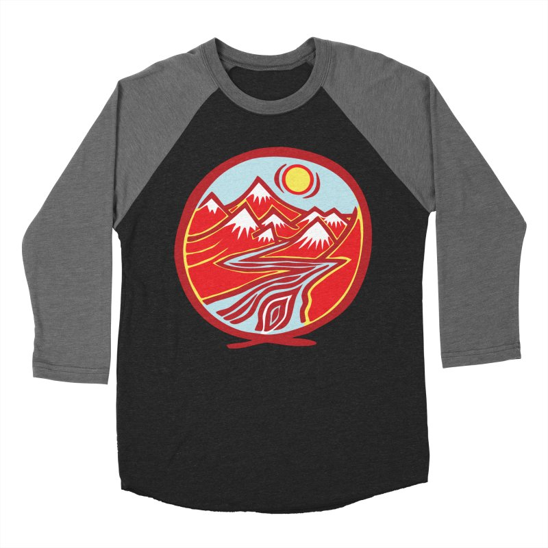 Natural Calming Multi Color Men's Baseball Triblend Longsleeve T-Shirt by jon cooney's print shop