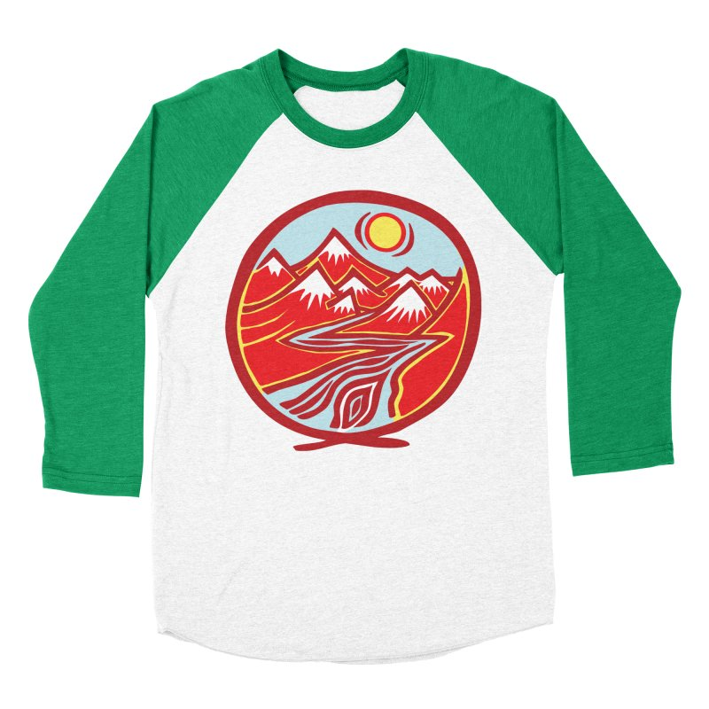 Natural Calming Multi Color Men's Baseball Triblend Longsleeve T-Shirt by jon cooney's print shop