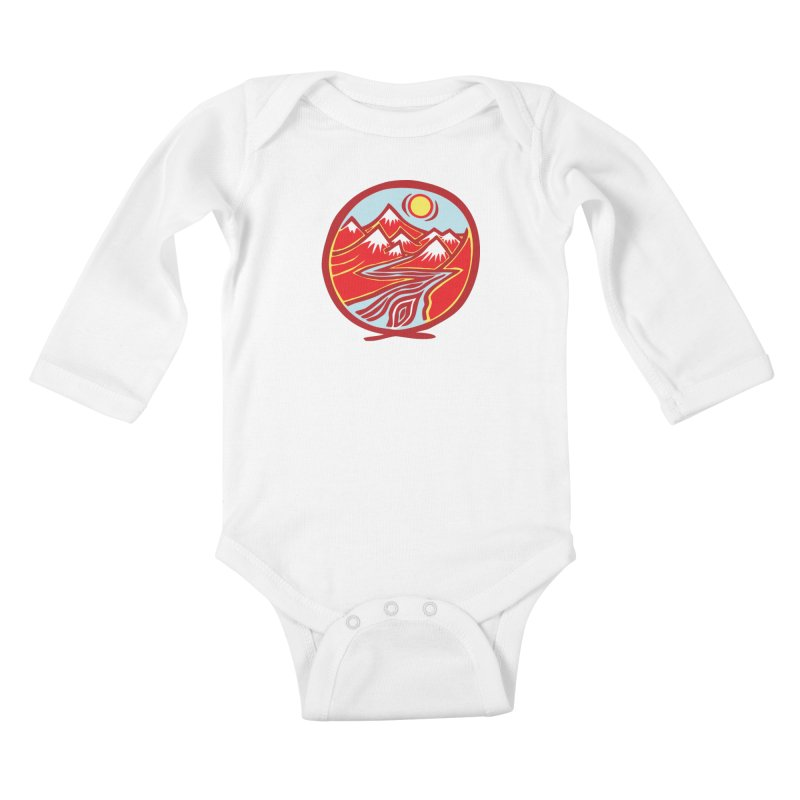 Natural Calming Multi Color Kids Baby Longsleeve Bodysuit by jon cooney's print shop