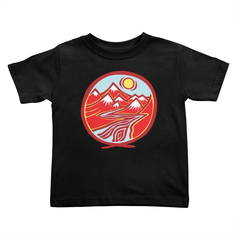 Natural Calming Multi Color Kids Toddler T-Shirt by jon cooney's print shop