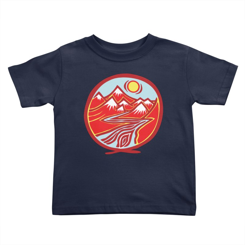 Natural Calming Multi Color Kids Toddler T-Shirt by jon cooney's print shop