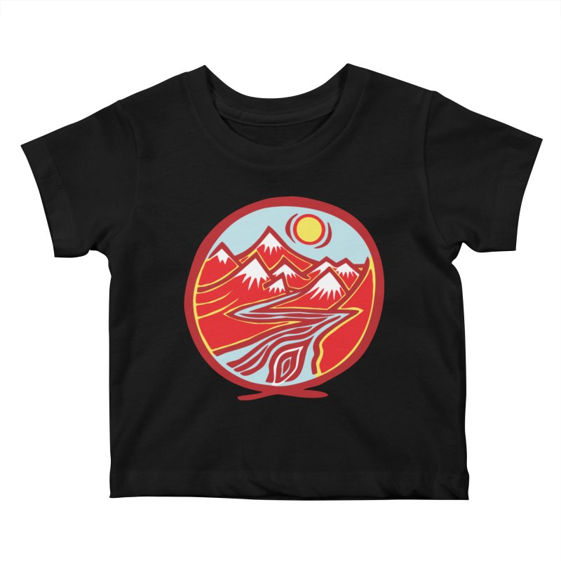 Natural Calming Multi Color Kids Baby T-Shirt by jon cooney's print shop