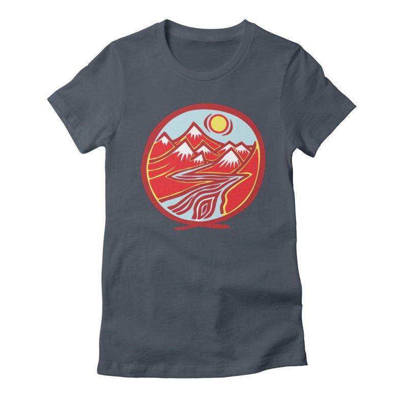 Natural Calming Multi Color Women's T-Shirt by jon cooney's print shop