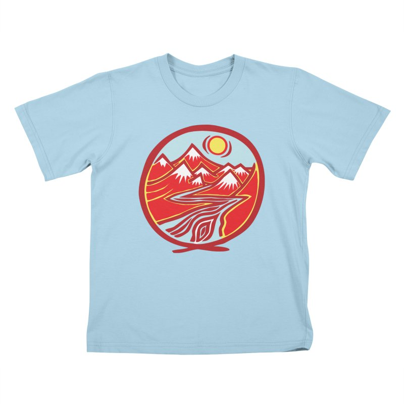 Natural Calming Multi Color Kids T-Shirt by jon cooney's print shop