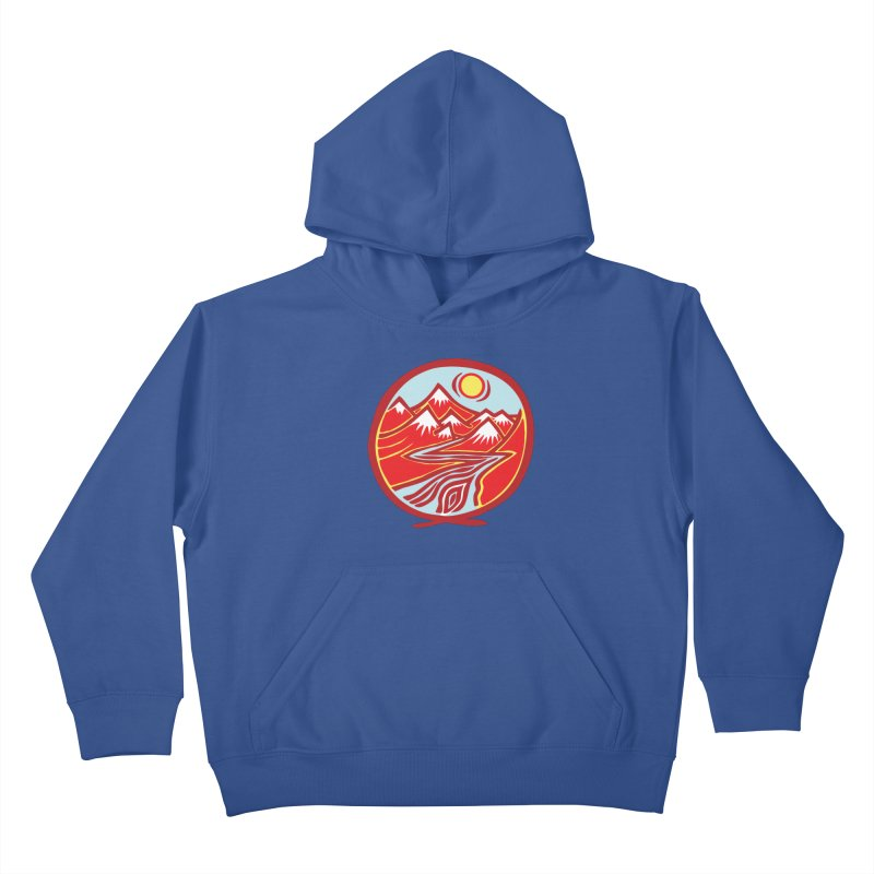 Natural Calming Multi Color Kids Pullover Hoody by jon cooney's print shop