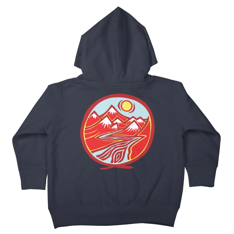 Natural Calming Multi Color Kids Toddler Zip-Up Hoody by jon cooney's print shop