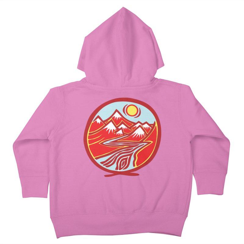 Natural Calming Multi Color Kids Toddler Zip-Up Hoody by jon cooney's print shop
