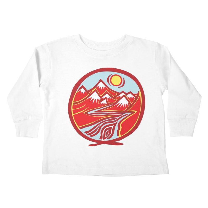 Natural Calming Multi Color Kids Toddler Longsleeve T-Shirt by jon cooney's print shop