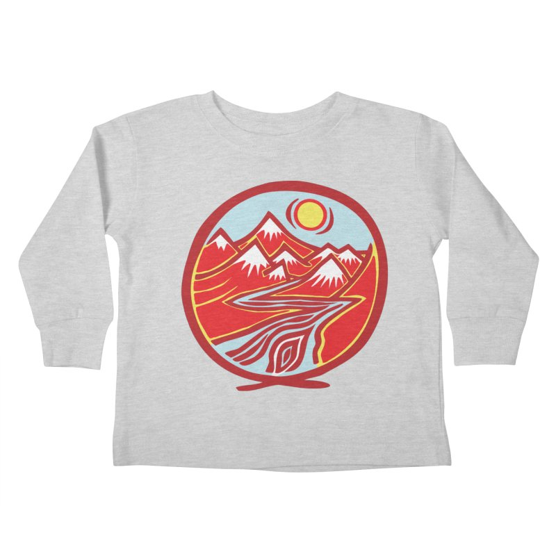 Natural Calming Multi Color Kids Toddler Longsleeve T-Shirt by jon cooney's print shop