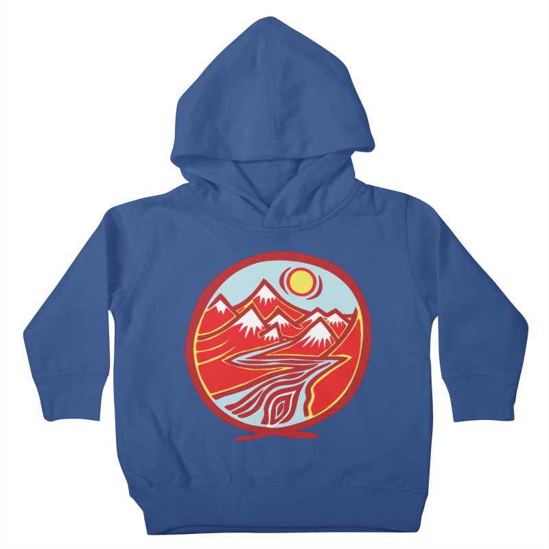 Natural Calming Multi Color Kids Toddler Pullover Hoody by jon cooney's print shop