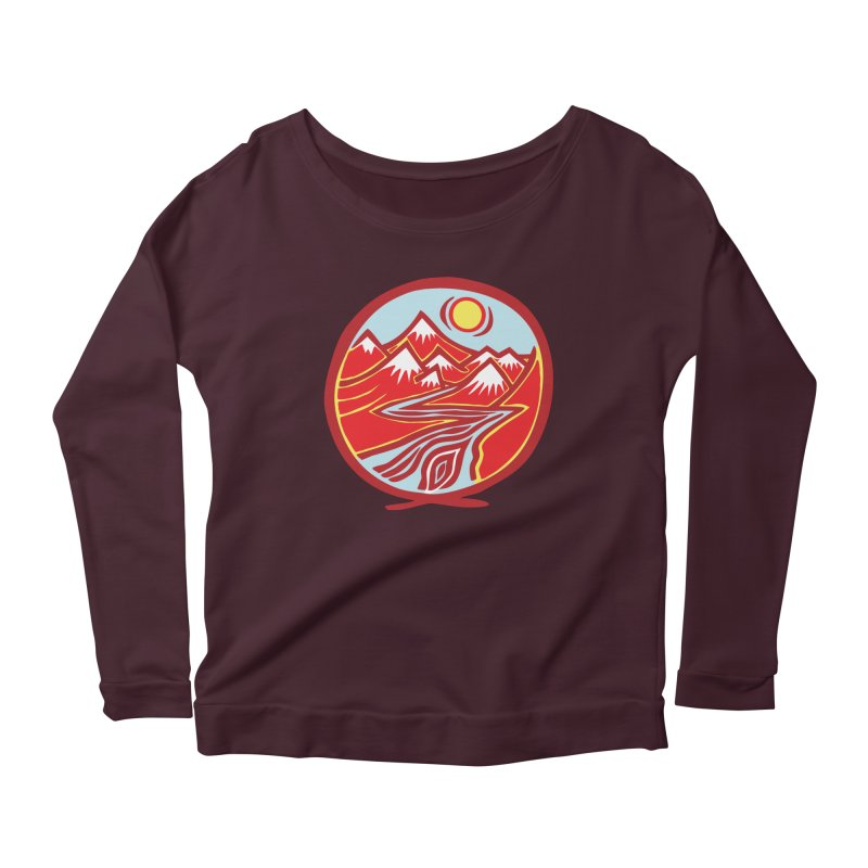 Natural Calming Multi Color Women's Scoop Neck Longsleeve T-Shirt by jon cooney's print shop