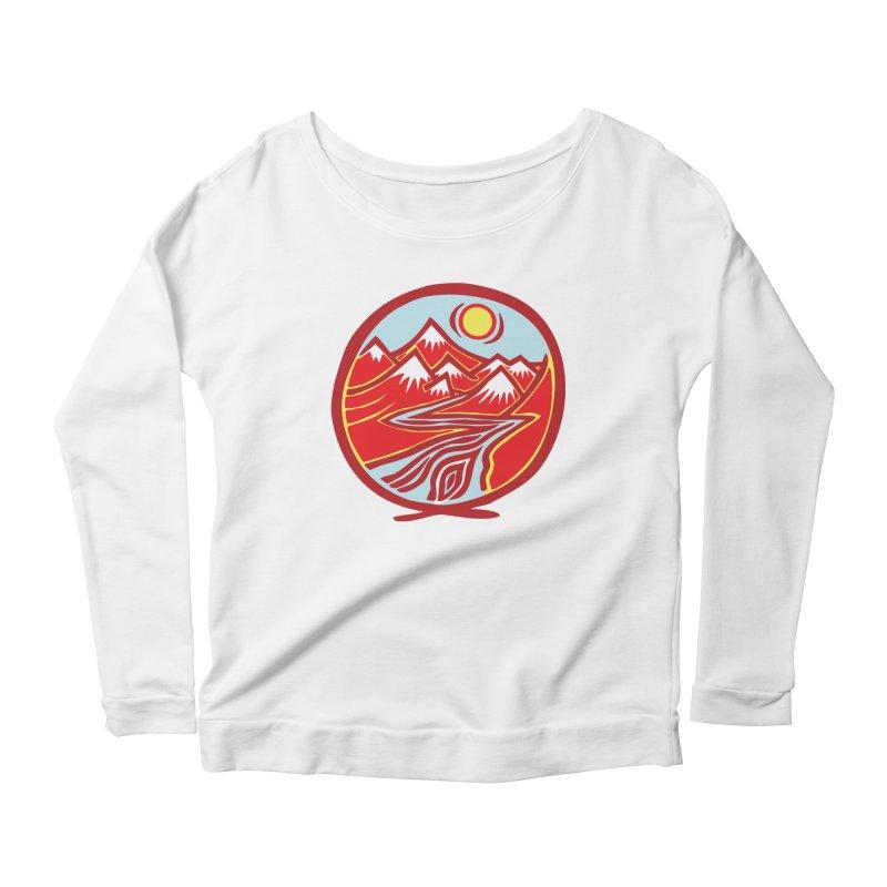 Natural Calming Multi Color Women's Scoop Neck Longsleeve T-Shirt by jon cooney's print shop