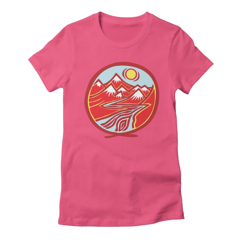 Natural Calming Multi Color Women's Fitted T-Shirt by jon cooney's print shop