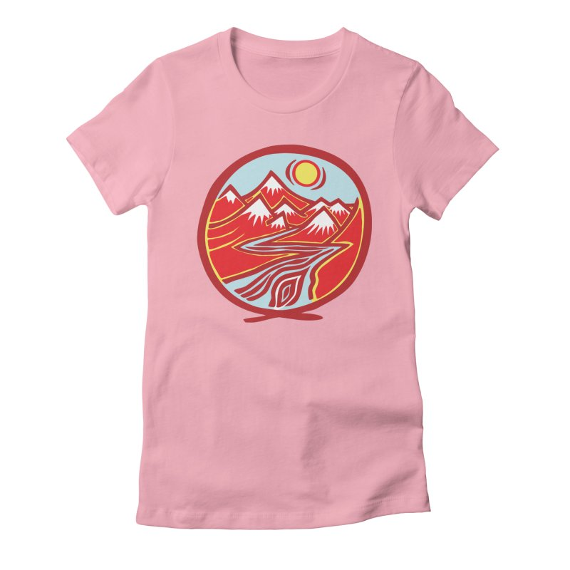 Natural Calming Multi Color Women's T-Shirt by jon cooney's print shop